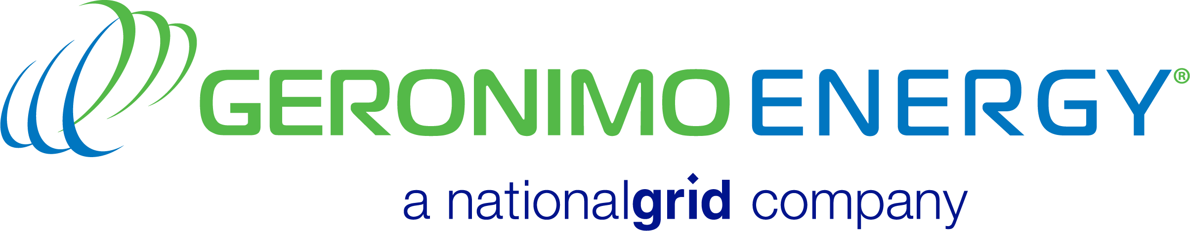 Geronimo Energy, a National Grid company logo