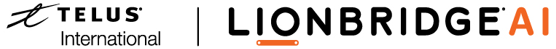 Lionbridge AI, a TELUS International company   logo